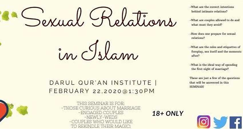 Darul Qur'an Institute of Islamic Studies Sexual Relations in Islam