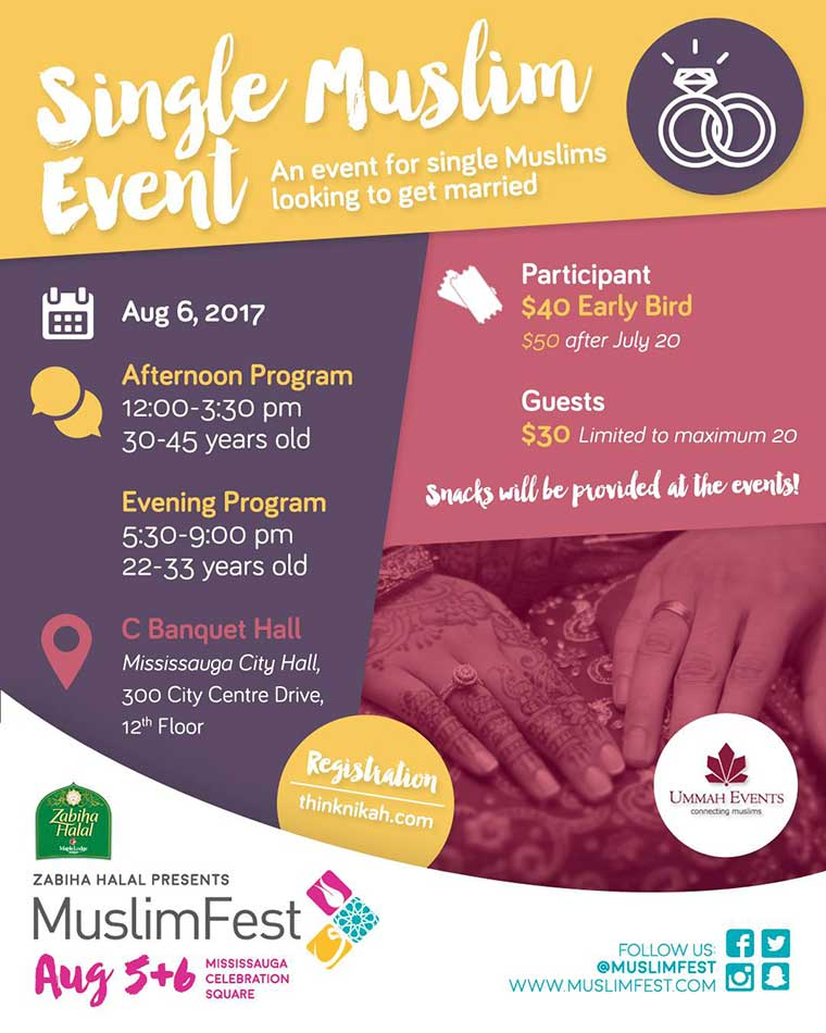 Single muslim dating events