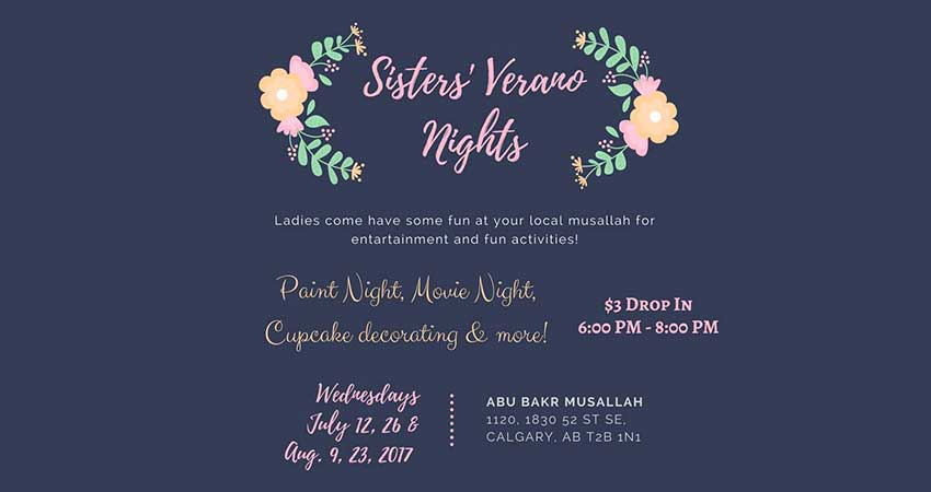 Sisters' Verano Nights Paint Night