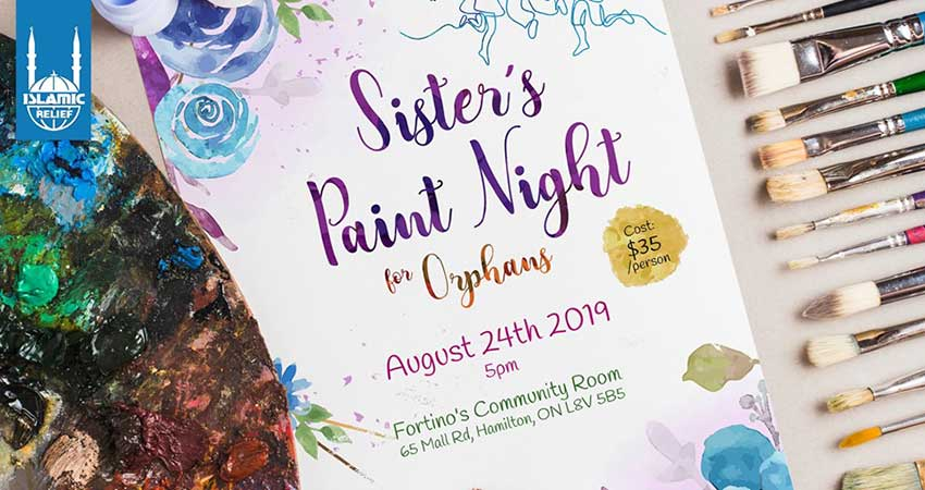Islamic Relief Canada Sister's Paint Night