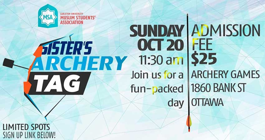 Carleton University Muslim Students Association (CUMSA) Sisters' Archery Tag