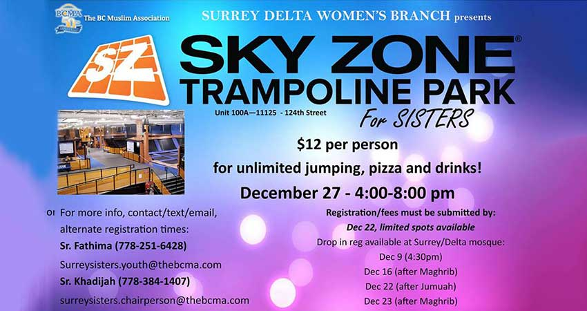 BCMA Sisters Youth at Sky Zone Trampoline Park