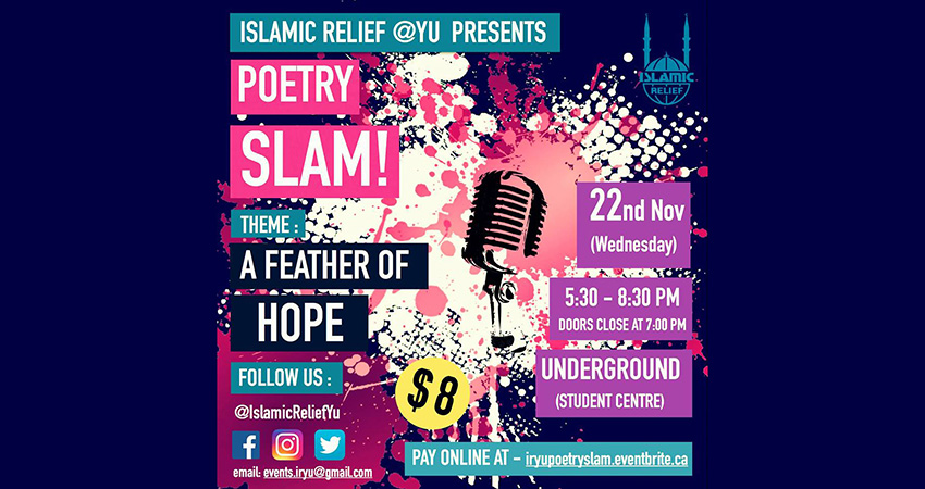 Islamic Relief at York University Poetry Slam