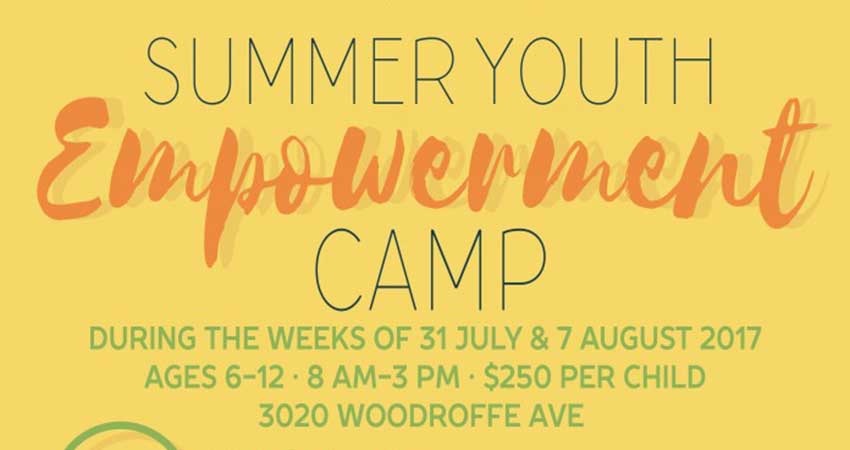 SNMC Summer Youth Empowerment Camp Starts July 31