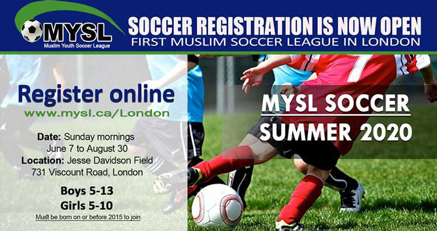 Muslim Youth Soccer League Summer Registration