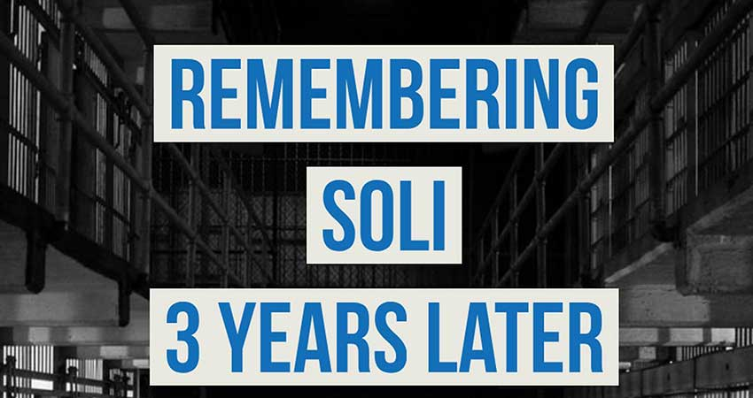 Vigil for Soli Three Years Later