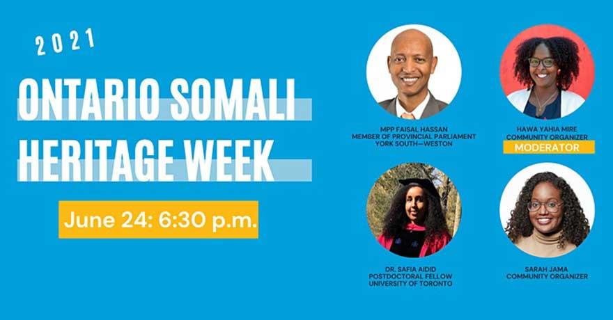 Hawa Mire Ontario Somali Heritage Week Launch Event (Eastern Standard Time)