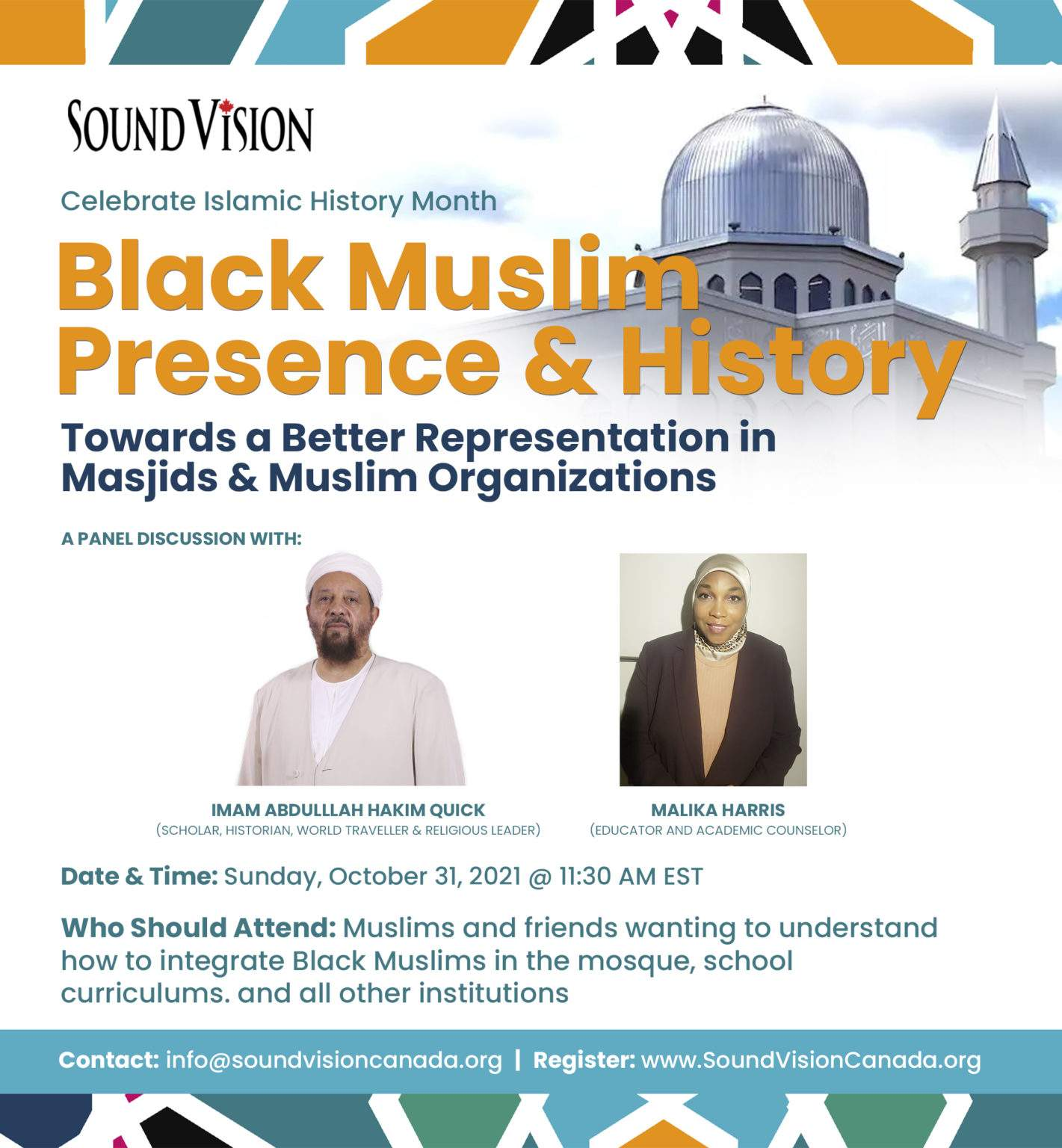 Sound Vision Canada Black Muslim Presence and History Towards a Better Representation in Masjids and Muslim Organizations