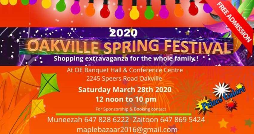 Oakville Spring Festival 2020