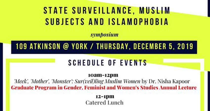 State Surveillance, Muslim Subjects and Islamophobia Symposium