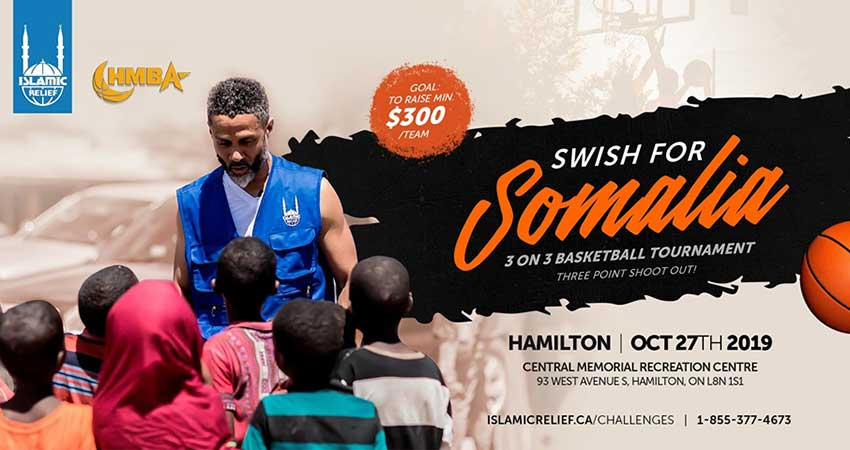 Islamic Relief Canada Swish for Somalia 3 and 3 Tournament with Mahmoud Abdul Rauf Hamilton