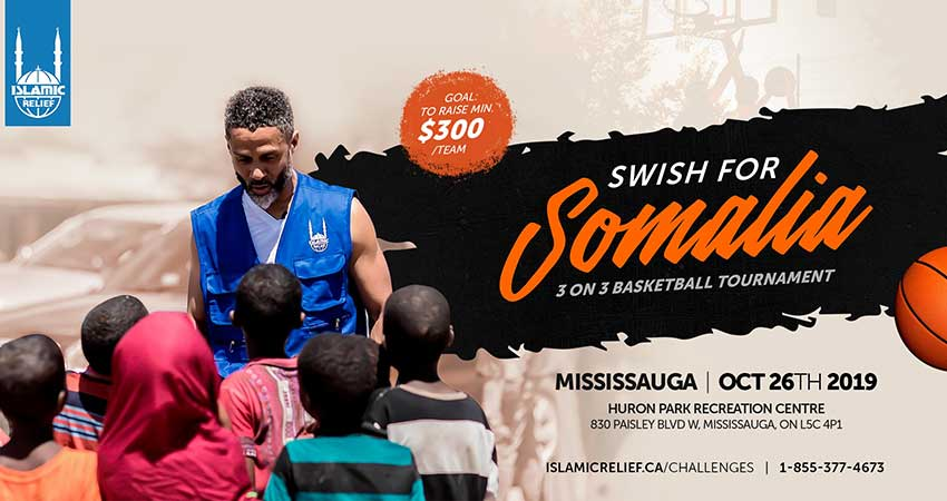 Islamic Relief Canada Swish for Somalia 3 on 3 Tournament with Mahmoud Abdul Rauf Mississauga