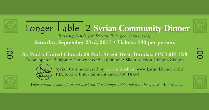 Longer Table 2 Syrian Community Dinner