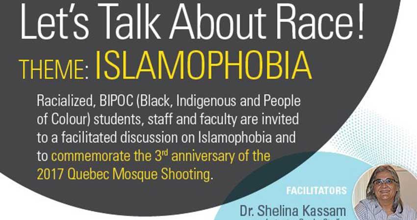 Let's Talk About Race! Drop-In on Islamophobia
