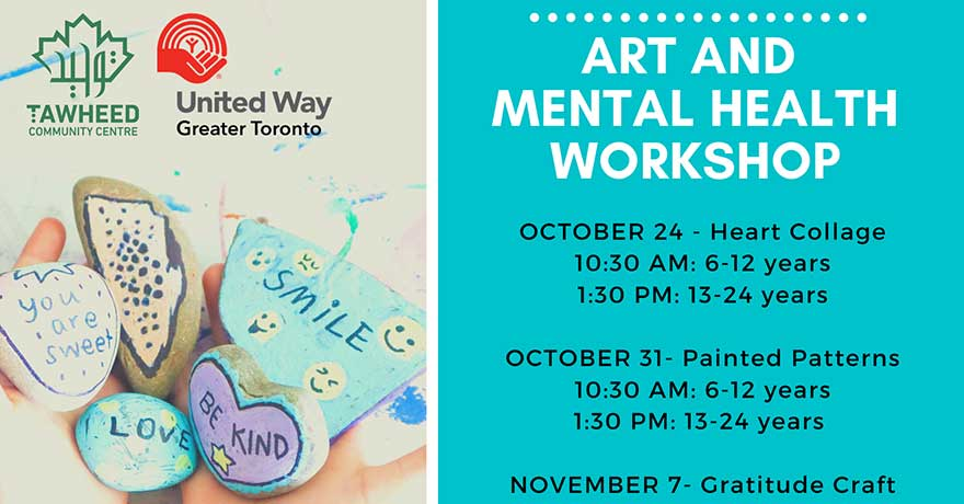Tawheed Community Centre Art and Mental Health Workshops