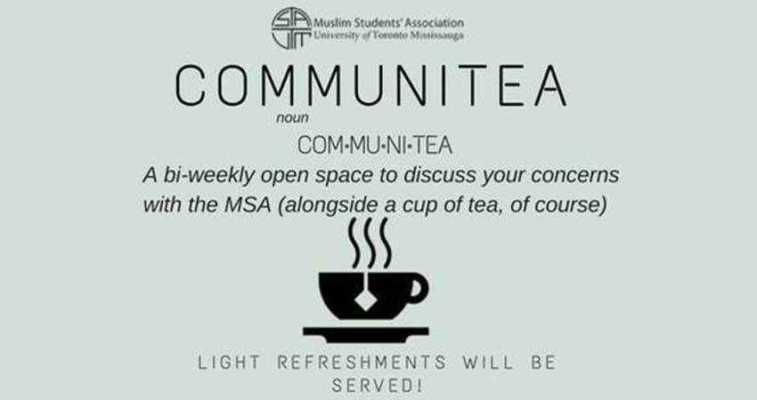 UTM MSA Communitea Discussions