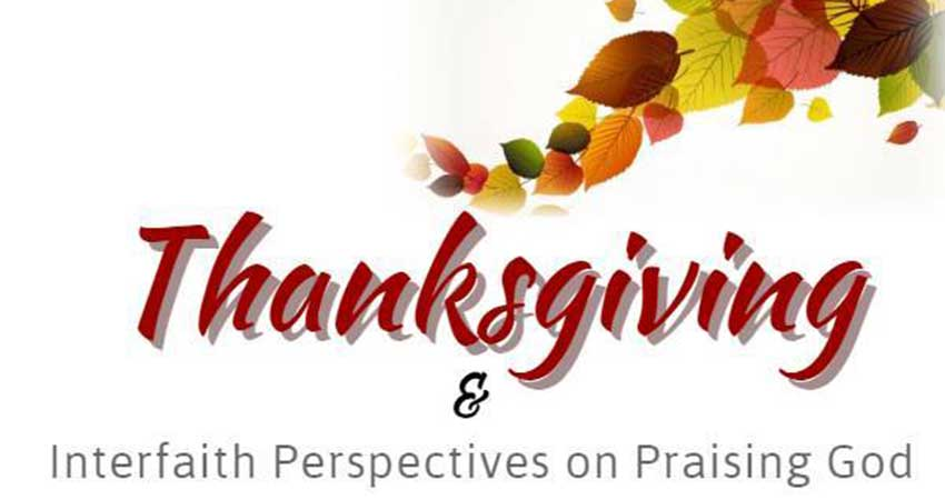Thanksgiving & Interfaith Perspectives on Praising God