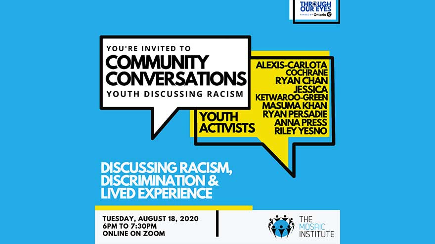 ONLINE Mosaic Institute Community Conversations Youth Combatting Racism