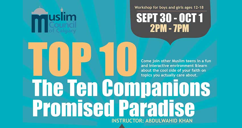 Top 10 The Ten Companions Promised Paradise