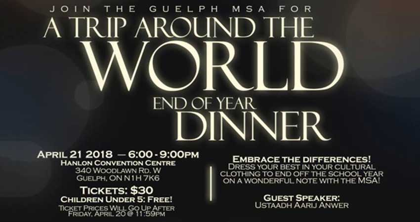 Guelph MSA A Trip Around the World: End of Year Dinner