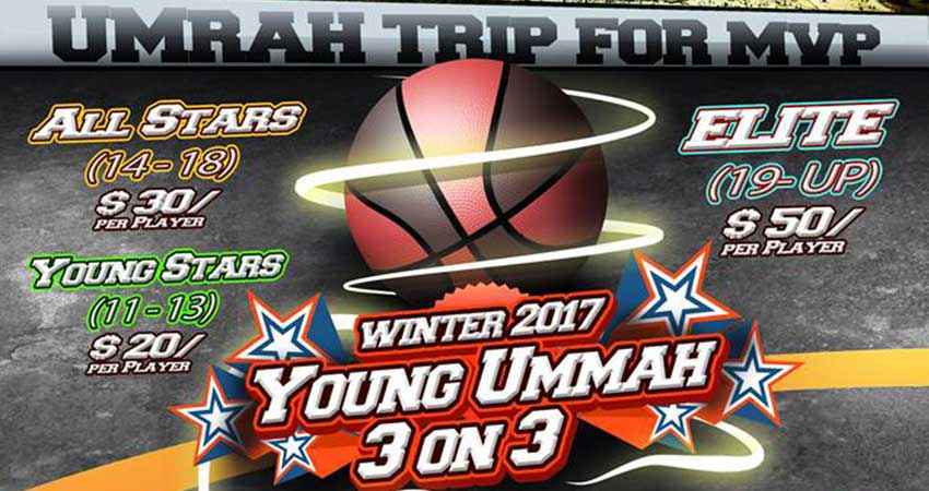 Young Ummah BCMA 3 on 3 Basketball Tournament REGISTER NOW