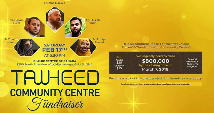 Dar Al-Tawheed Community Centre Fundraiser