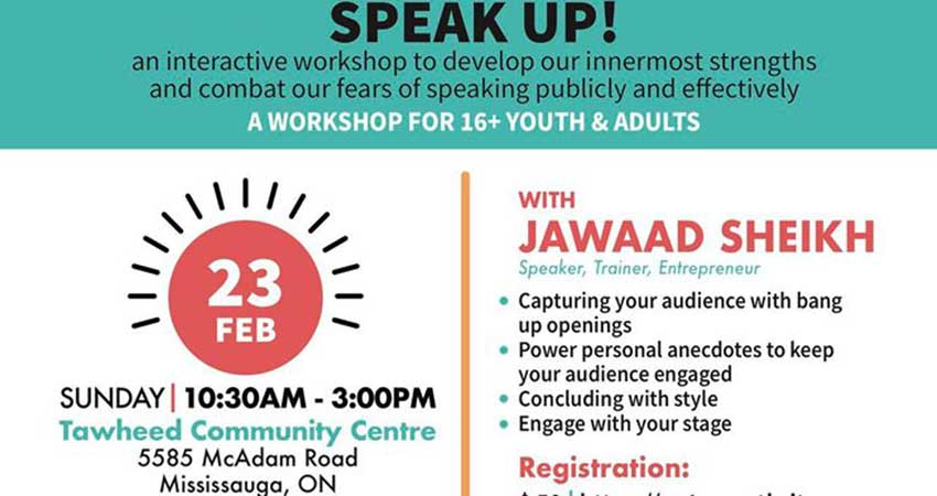 Sound Vision Canada Speak Up Public Speaking Workshop