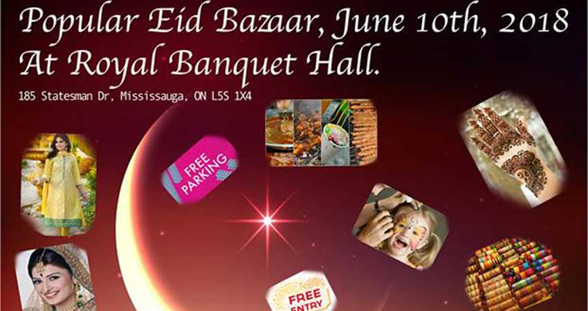 Popular Eid Bazaar at Royal Banquet Hall