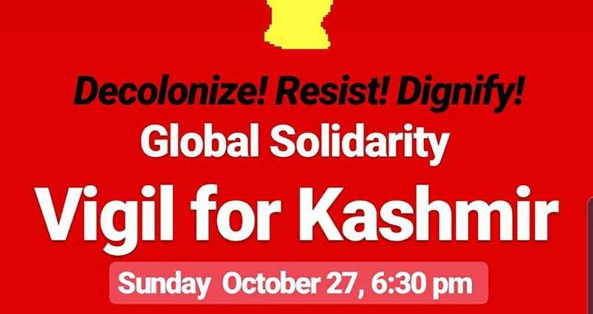 Solidarity Vigil For Kashmir Scarborough