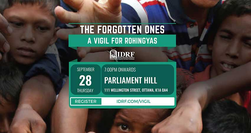 IDRF The Forgotten Ones - A Vigil for Rohingyas