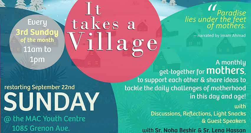 It Takes a Village Monthly Get-Together for Mothers