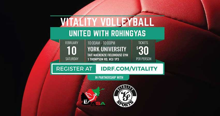 Vitality Volleyball - United With Rohingyas