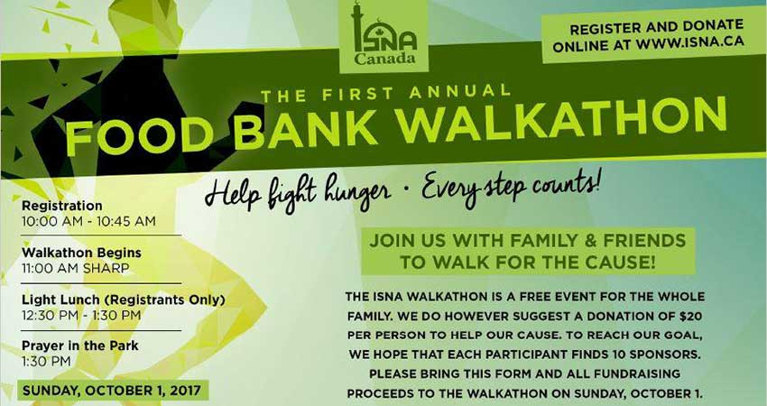 ISNA Food Bank Walkathon