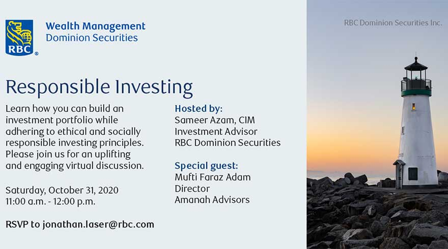 ONLINE Halal Investing Webinar hosted by Sameer Azam, RBC Dominion Securities