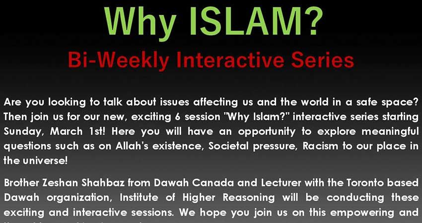 WHY ISLAM: Bi-weekly Interactive Series for Youth