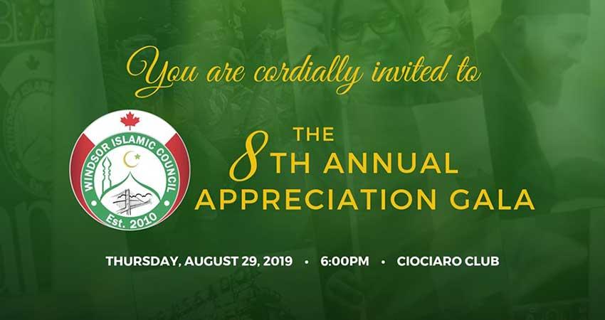 Windsor Islamic Council Annual Appreciation Gala 2019