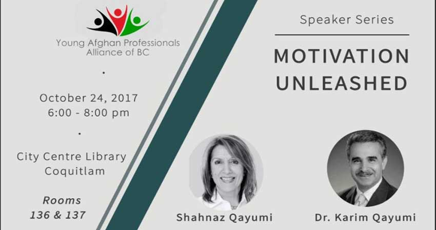 Young Afghan Professionals Association of BC Speaker Series | Motivation Unleashed