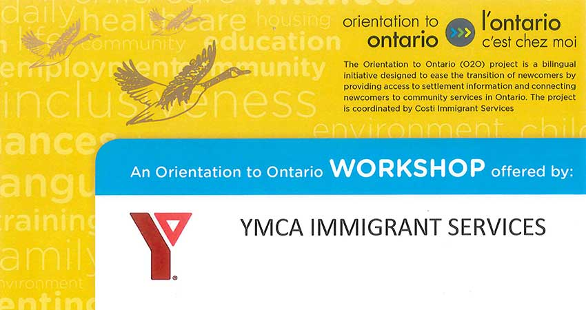 YMCA Immigrant Services Orientation to Ontario at the Islamic Centre of Cambridge