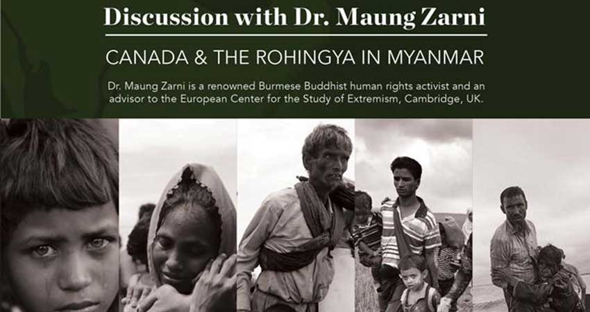 Canada and the Rohingya in Myanmar: Discussion with Dr. Maung Zarni in Ottawa
