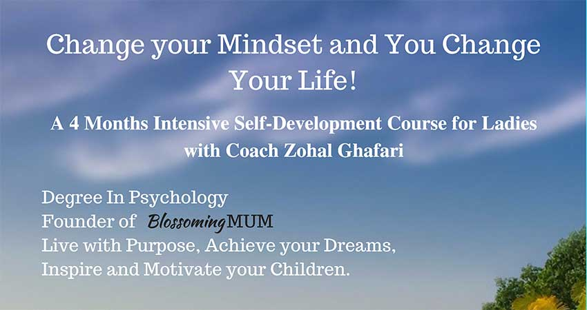 Intensive Self-Development Course for Ladies with Coach Zohal Ghafari Starts October 11