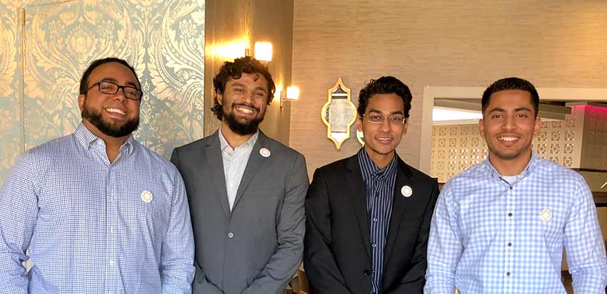 Beneficent's directors, from left to right: Executive Director Ahmed Rizk, Co-founders Thamjeeth Abdul Gaffoor, Nahian Alam, and Hussain Sharif.
