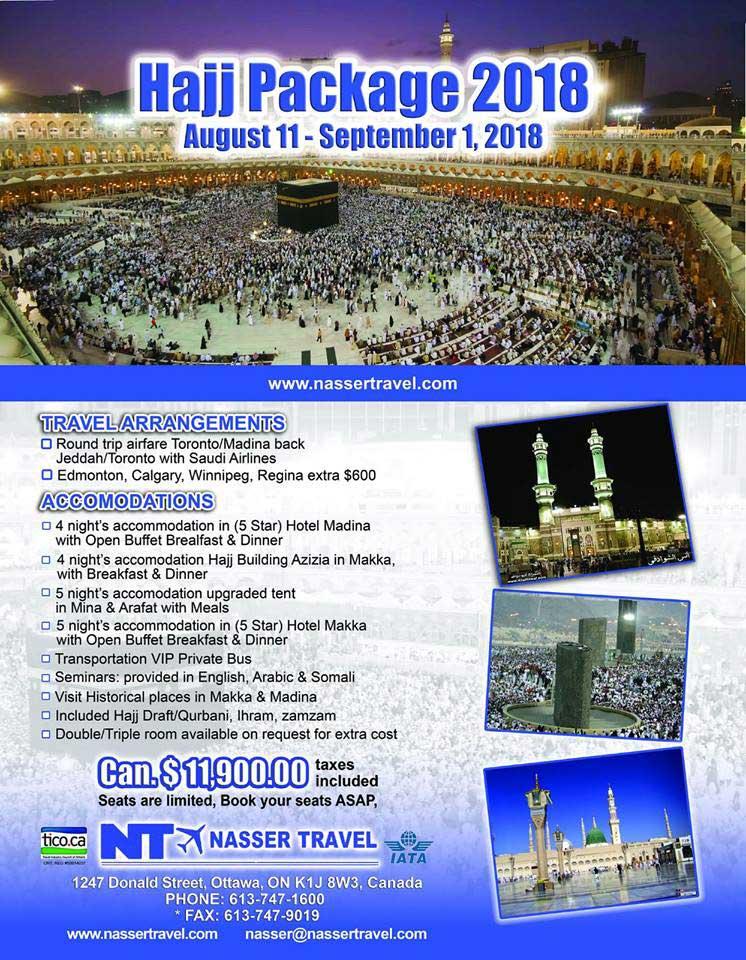 Nasser Travel Hajj 2018 Packages Canada