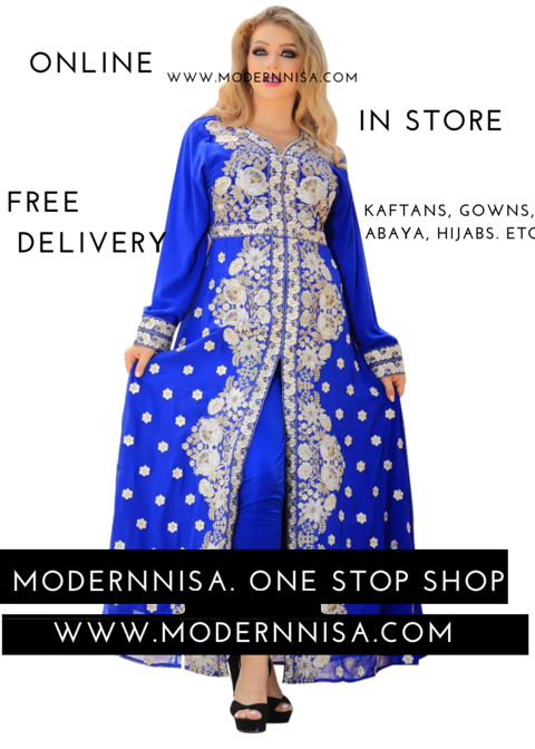 ModernNisa-Evening Gowns. Kaftans. Party Wear