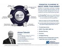 Ahmet Tahmilci, MA, BSc | Consultant, IG Wealth Management