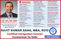 Immigration Consultant, Sujit Kumar Saha, RCIC
