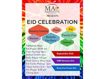 MAC Youth Centre's Eid Celebration