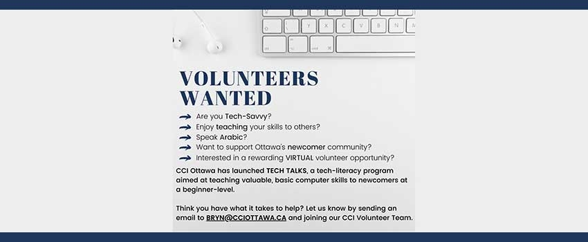 Tech-Savvy Arabic-Speaking Volunteers Needed at the Catholic Centre for Immigrants in Ottawa