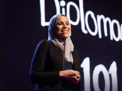 In 2015, Alaa Murabit was a speaker at TEDWomen in Monterey, California.