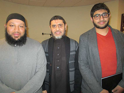 Imam Sikander Hashmi, Imam Ismail Albatnuni, and Qussai Abu-Naqoos spoke on the subject of Jihad and Extremism on February 6th at Masjid Assunnah.