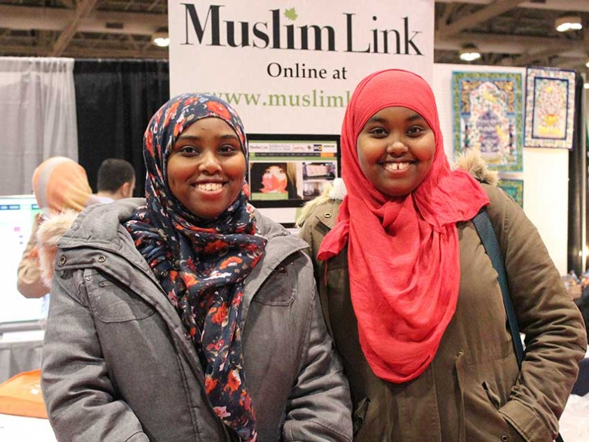 Asiya Ismail & friend from Ottawa at the Reviving the Islamic Spirit Conference.